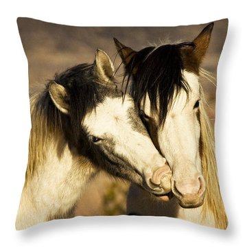 Best Friends 2009 Throw Pillow by Joan Davis