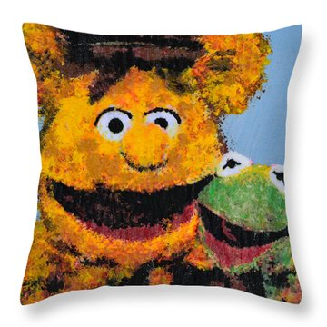 Best Friends Throw Pillow by Alys Caviness-Gober