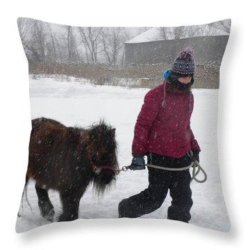 Best Friends Come In All Sizes Throw Pillow