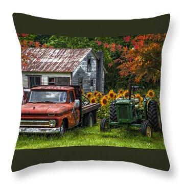 Best Friends Throw Pillow by Debra and Dave Vanderlaan