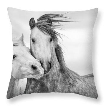 Wild Horses Throw Pillows