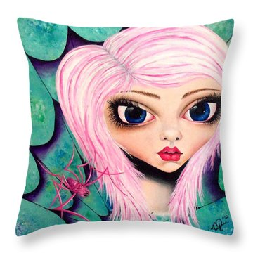 Throw Pillow featuring the painting Best Friends by Oddball Art Co by Lizzy Love