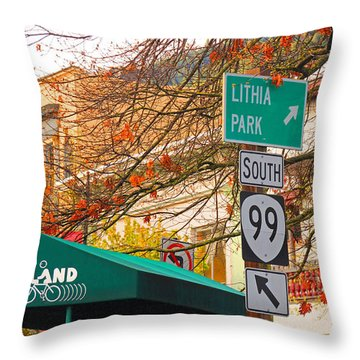 Best Little Town In Oregon Throw Pillow by Kris Hiemstra