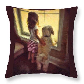 Best Of Friends Throw Pillow