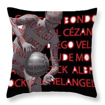 Best Painters Of All Time In Western Painting Throw Pillow by Sir Josef - Social Critic -  Maha Art
