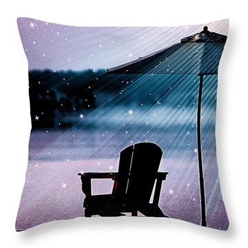 Throw Pillow featuring the photograph Best Seat In Muskoka by Al Fritz