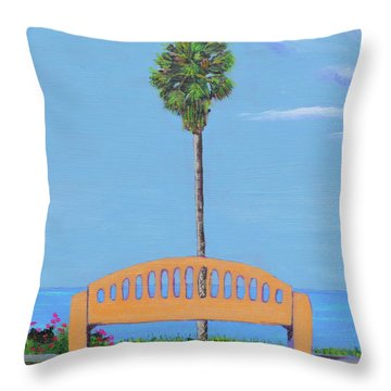 Best Seat In San Clemente Throw Pillow