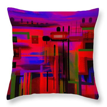 Best Seat In The House. Throw Pillow by Andrew Penman