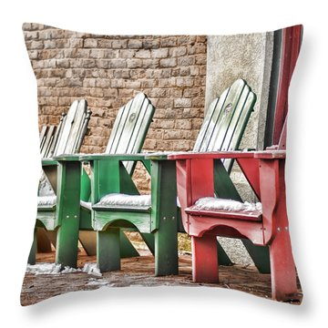 Best Seats In Town Throw Pillow by Heather Applegate