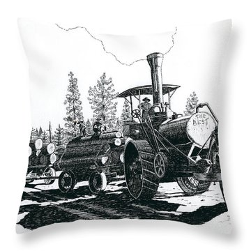 Best Steam Traction Engine Throw Pillow