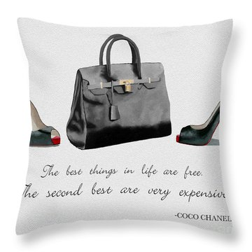 Best Things In Life Throw Pillow by Rebecca Jenkins