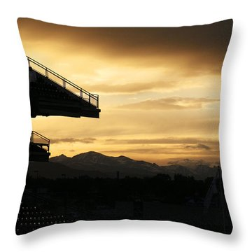 Best View Of All - Rockies Stadium Throw Pillow by Marilyn Hunt