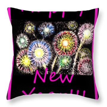 Best Wishes And Happy New Year Throw Pillow by Irina Sztukowski