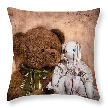 Besties Throw Pillow