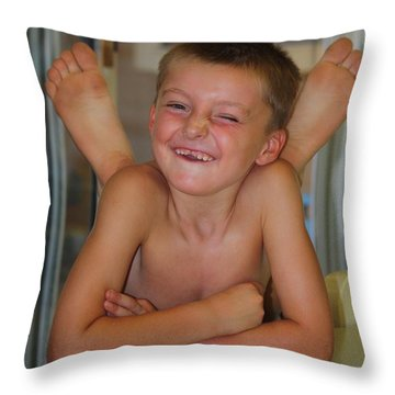 Bet-cha Can't Do This Throw Pillow by Patrick Witz