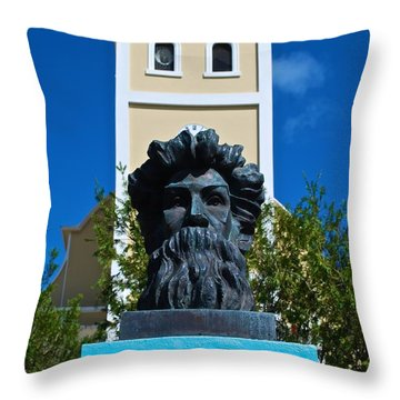 Betances Monument And Lares Church Throw Pillow
