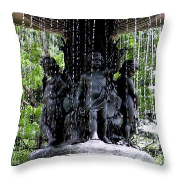 Bethesda Boys Throw Pillow by Ed Weidman
