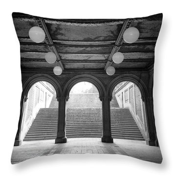 Bethesda Passage Central Park Throw Pillow