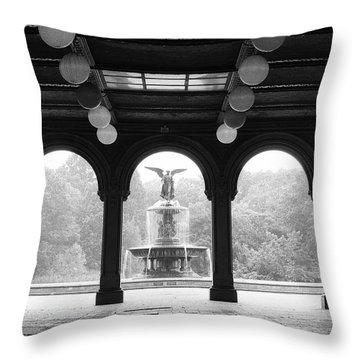 Bethesda Terrace  1990s Throw Pillow