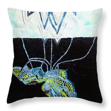 Bethlehem And Mary Throw Pillow by Gloria Ssali
