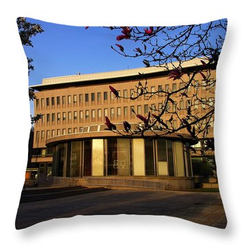 Bethlehem City Rotunda And City Hall Throw Pillow by Jacqueline M Lewis