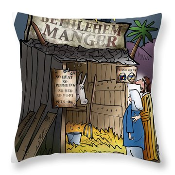 Bethlehem Manger Throw Pillow