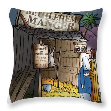 Bethlehem Manger Throw Pillow