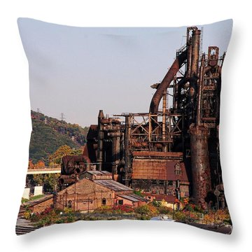 Bethlehem Steel # 8 Throw Pillow