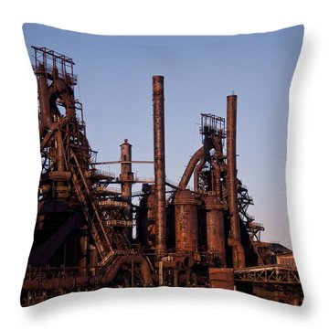 Bethlehem Steel At Sunset Throw Pillow