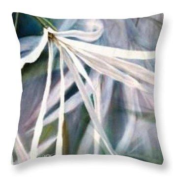 Beth's Flower Throw Pillow