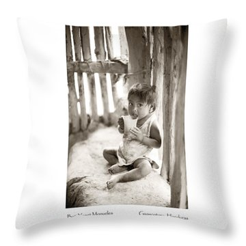 Throw Pillow featuring the photograph Beti Yanet Monueles by Tina Manley