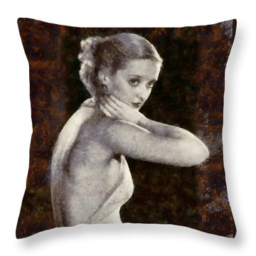 Bette Davis Eyes Throw Pillow
