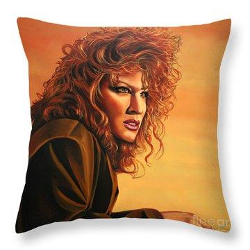 Bette Midler Throw Pillow by Paul Meijering