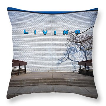 Better Living Centre Exhibition Place Toronto Canada Throw Pillow by Brian Carson