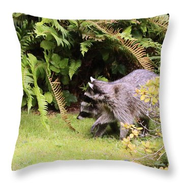 Better Run Thru The Jungle Throw Pillow by Kym Backland
