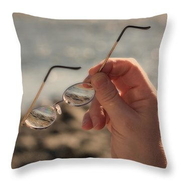 Better To See With Throw Pillow by Karol Livote