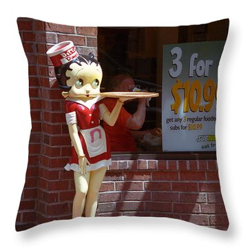 Betty Boop 1 Throw Pillow by Frank Romeo