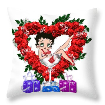 Betty Boop 4 Throw Pillow