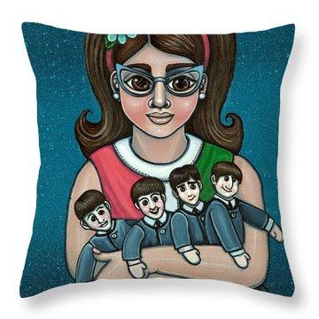 Betty Jeans Beatles Throw Pillow