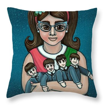 Betty Jeans Beatles Throw Pillow