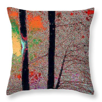 Throw Pillow featuring the digital art Betwee5  by Lyle Crump