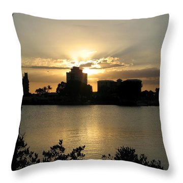 Between Day And Night Throw Pillow by Christiane Schulze Art And Photography