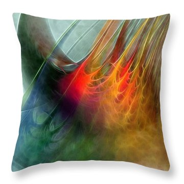 Between Heaven And Earth-abstract Throw Pillow