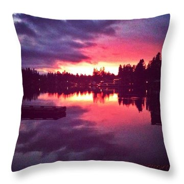 Between Heaven And Earth New Edit Throw Pillow
