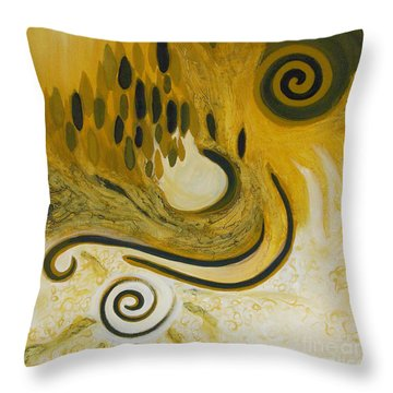 Between Heaven And Hell Throw Pillow