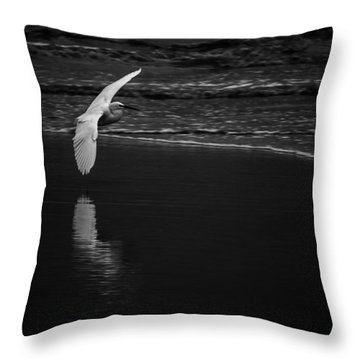 Between Sea And Clouds Throw Pillow