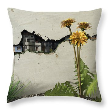 Between The Cracks Throw Pillow