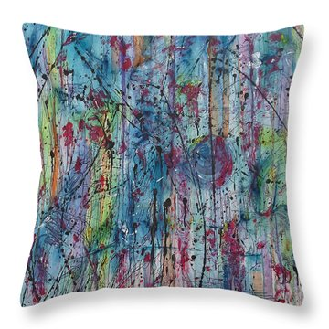 Between The Doubt Throw Pillow by Ronda Stephens