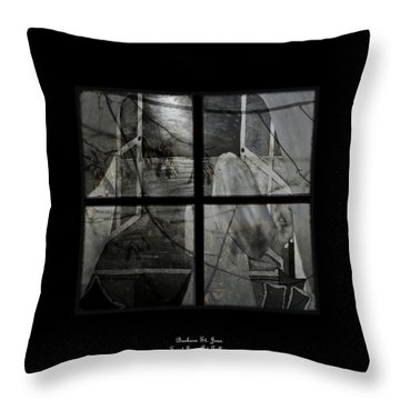 Between The Frames Throw Pillow by Barbara St Jean