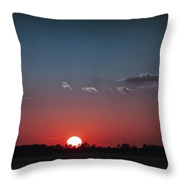 Between The Light And The Dark Throw Pillow by Rebecca Davis
